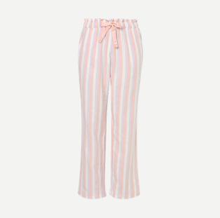 Pink shimmering stripe pyjama bottoms