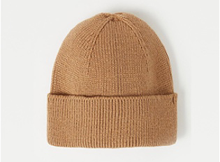 Tan brown lightweight beanie hat