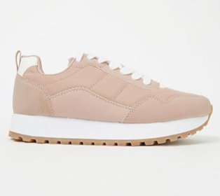 Pink sports trainers.
