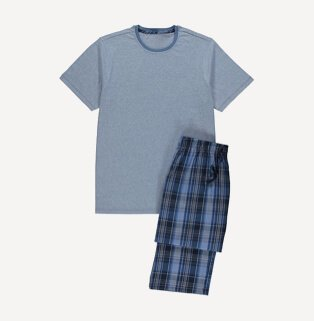 Men's blue pyjama set