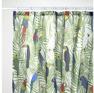 Jungle patterned curtains