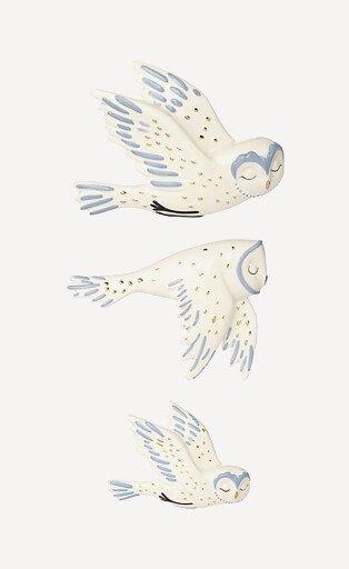 Three wall ornament birds