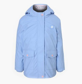 Pale Blue Flower Motif 3 in 1 Fisherman Jacket