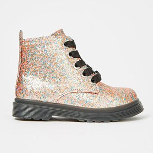First Walkers Pink Fleck Coated Glitter Grunge Boots.