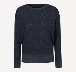 Navy blue slouchy jumper