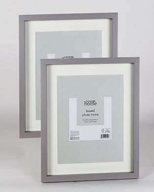 Product shot of two grey boxed photo frames