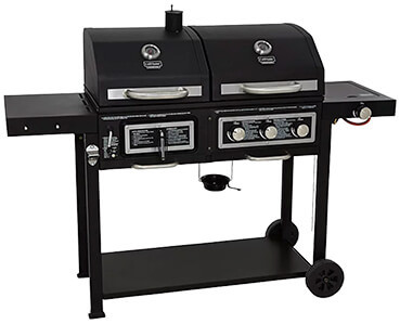 Achieve maximum control over your BBQing with Uniflame's combination gas and charcoal grill BBQ