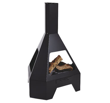 Bring some warmth to your summer evenings with this contemporary-styled Pyramid Chimenea log burner
