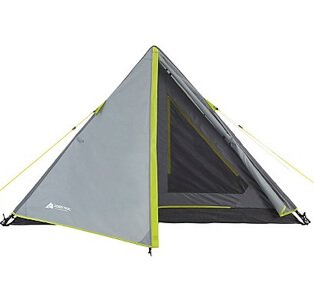 Grey triangle tent