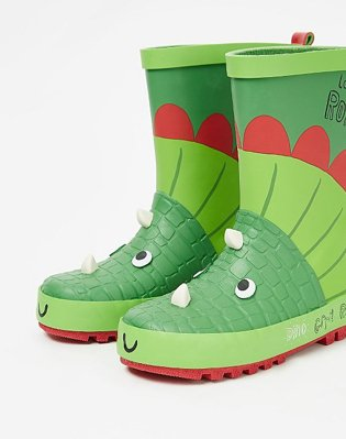 Green Dinosaur Print Wellies.