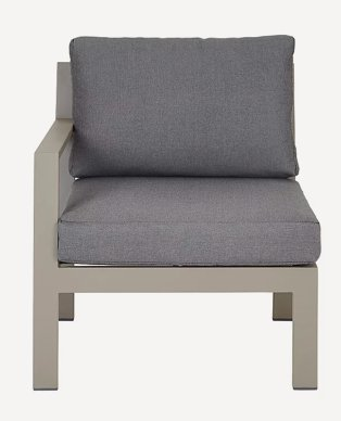 Grey outdoor one-seater chair