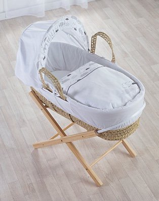 Kinder Valley Silver Lining Moses Basket and Folding Stand Bundle