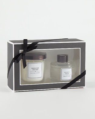 Midnight orchid candle and reed diffuser gift set