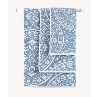 Blue Mandala cotton towel range