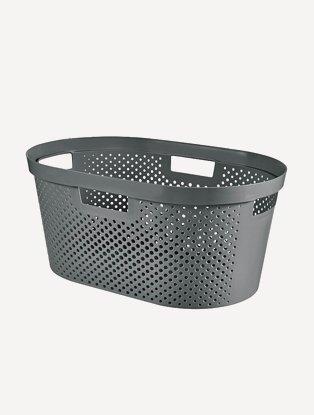 Grey plastic basket