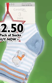 3 Pack of Socks £2.50