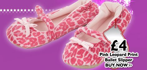 Pink Leopard Print Ballet Slippers £4