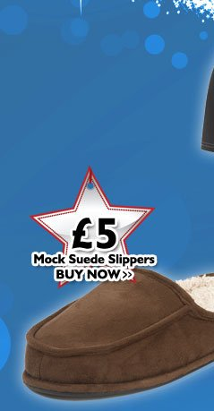 Mock Suede Slippers £5