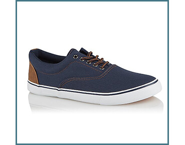 Refresh your footwear collection with a pair of navy canvas trainers