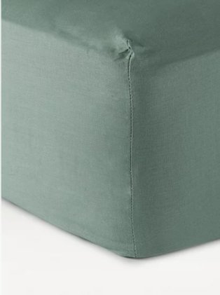 Just wellness green stay fresh antibacterial fitted sheet.