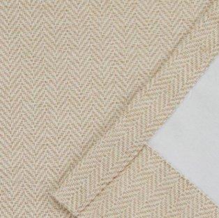 Yellow and white chevron fabric.