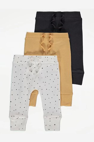 Grey, Yellow and White Spotty Print Joggers.