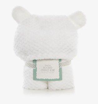 White Hooded Bear Ears Cuddle Robe.