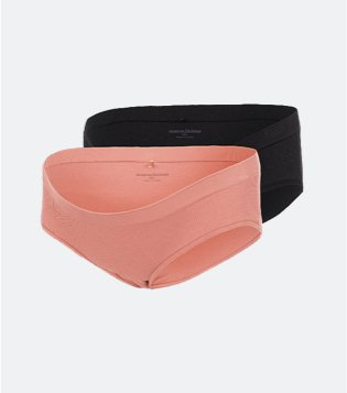 2 pack of black and pink MAMALICIOUS maternity briefs.