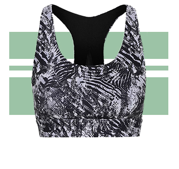 Wake up your gym kit with the unique print of this activewear top