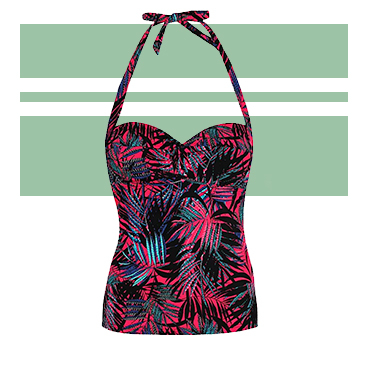 This vibrant swimsuit is sure to make you stand out by the pool