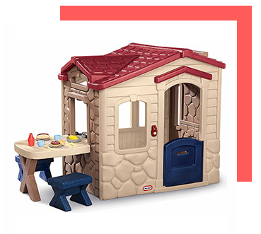 Let their imagination run wild in a playhouse
