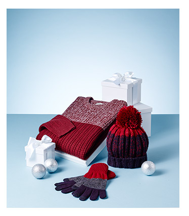 A selection of knitwear Christmas gifts available at George.com