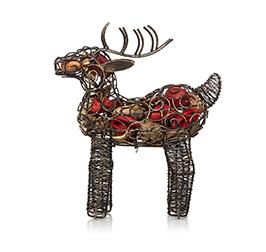 Wire reindeer ornament