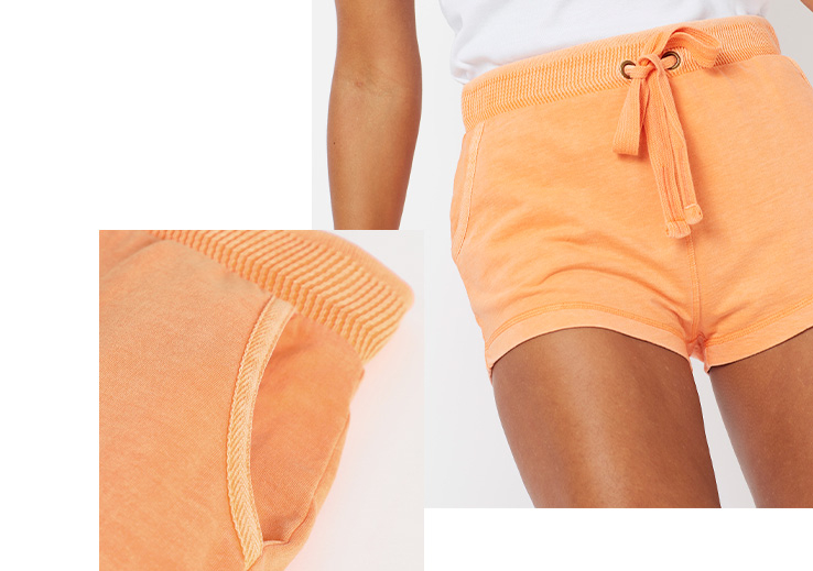 These shorts are designed with a drawstring tie waistband