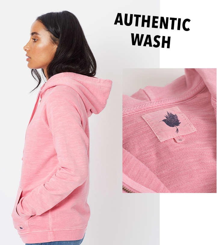 Garments are authentically washed